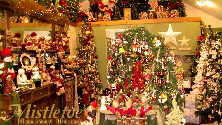 Mistletoe Holiday House Interior & Mistletoe Holiday House | Personalized Hand Painted Holiday ...